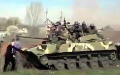 Ostukrainer gegen KiewsPanzer