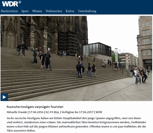 Bild anklicken, zum Vergrößern! Quelle: WDR