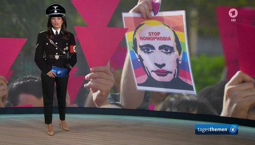 Ard Propagandistin Pinar Atalay Lügt Putin Hätte Homosexualität Und